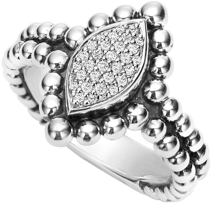 Lagos Caviar Spark Diamond Marquise Ring