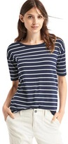 Gap Stripe short drop sleeve tee