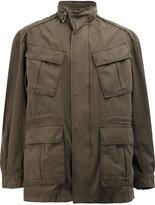 Juun.J high neck loose-fit coat