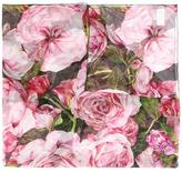 Dolce & Gabbana rose print scarf - women - Silk/Cotton - One Size