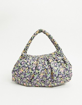 And other stories & soft floral print handle bag in mutli