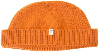 40 Colori Orange Solid Wool Fisherman Beanie