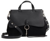 Rebecca Minkoff Medium Keith Suede & Leather Satchel - Black