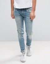 Pepe Jeans Finsbury Slim Fit Jeans in Light Wash