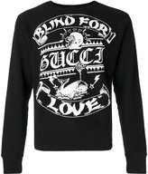 Gucci blind for love print sweatshirt