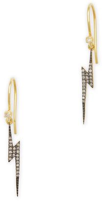 Kirstie Le Marque Pave Diamond Lightning Bolt Dangle Earrings