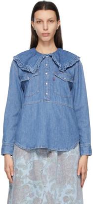 Ganni Blue Levis Edition Denim Collar Shirt