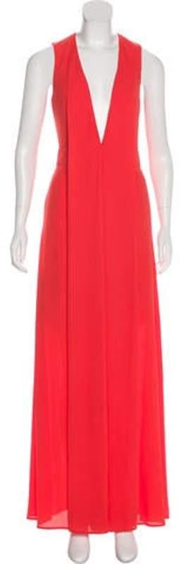 Aq/Aq Sleeveless Maxi Dress Orange Sleeveless Maxi Dress