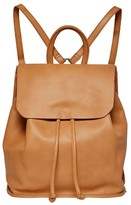 Urban Originals Midnight Faux Leather Flap Backpack - Brown