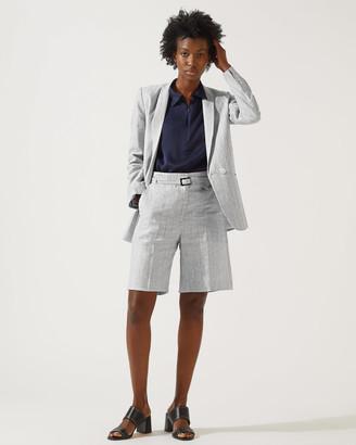 Jigsaw Stripe Linen Longline Blazer