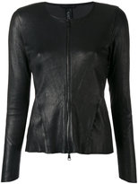 Giorgio Brato zipped fitted jacket - women - Cotton/Leather/Spandex/Elastane - 44