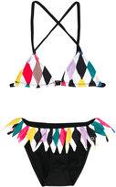 Rykiel Enfant - diamond print bikini - kids - Cotton/Polyamide/Spandex/Elastane - 2 yrs