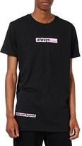 Topman Men's Always Longline Graphic T-Shirt