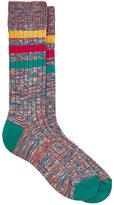 Paul Smith Men's Mélange Rib-Knit Mid-Calf Socks