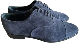 Burberry Blue Suede Lace ups