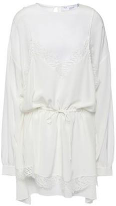 IRO Hassle Layered Lace-trimmed Silk Crepe De Chine Mini Dress
