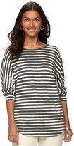 Chaps Women's Striped Dolman Pullover