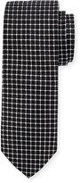 Neiman Marcus Boxed Grid-Print Silk Tie
