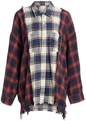 R 13 Two-Tone Plaid Combo Workshirt