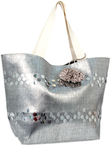Magid Silver Metallic Embellished Tote