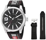 Diesel Rasp NSBB Three-Hand Nylon Watch Set DZ1906 (Black) Watches