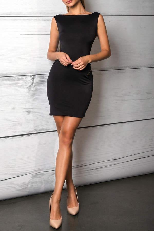 Savee Couture Savee Open Zipper Dress