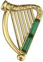 Solvar Irish Harp Brooch Plated Made in Ireland [Apparel]