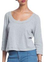Plenty by Tracy Reese Heathered Three-Quarter Sleeve Sweatshirt