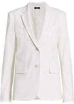Theory Women's Classic Twill Wool Blazer - Size 0