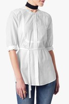 7 For All Mankind Bib Blouse In White