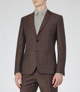 Reiss Hollidge B - Single-breasted Wool Blazer in Brown, Mens