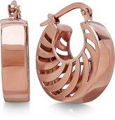 Macy's Double Swirl Cutout Hoop Earrings in 14k Rose Gold, Made in Italy