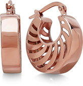 Macy's Double Swirl Cutout Hoop Earrings in Italian 14k Rose Gold