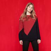 Maje Two-tone ribbed knit jumper