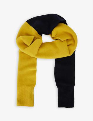 Issey Miyake Colour-block wool scarf