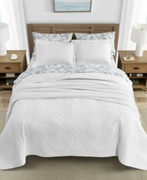 Tommy Bahama Home Tommy Bahama Solid White Quilt Set, King
