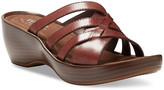 Eastland Women's Sandals WALNUT - Walnut Poppy Leather Heeled Sandal - Women