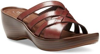 Eastland Women's Sandals WALNUT - Walnut Poppy Leather Heeled Sandal - Women