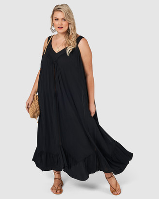 The Poetic Gypsy - Women's Black Maxi dresses - Crystal Lake Maxi Dress - Size One Size, 12 at The Iconic