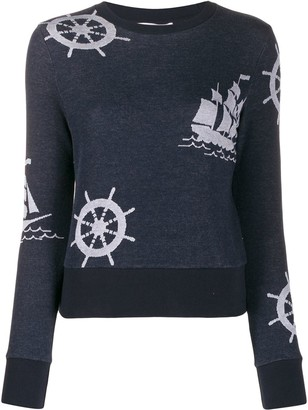 Thom Browne Nautical Print Sweatshirt