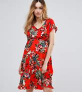 Mama Licious Mama.licious Mamalicious Nursing Bold Floral Print Tea Dress