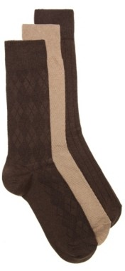 Cole Haan Argyle Men's Crew Socks - 3 Pack