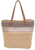sun and sand Straw Shoulder Tote