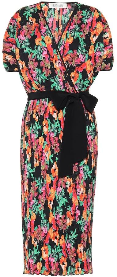 Diane von Furstenberg Autumn pleated midi dress