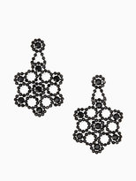 Kate Spade Crystal lace statement earrings