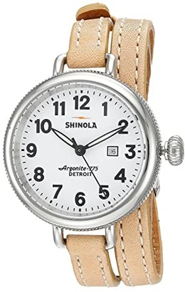 Shinola Detroit The Birdy 34mm - 10000234 (White/Natural) Watches