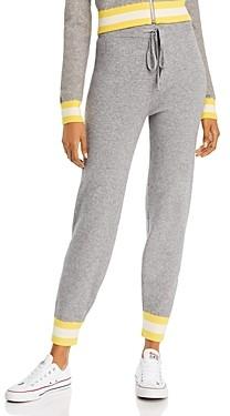 Aqua Madeleine Thompson x Striped-Cuff Jogger Pants - 100% Exclusive
