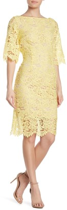 Marina Scallop Lace 3/4 Sleeve Dress