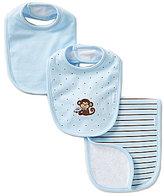 Little Me Monkey Star Bib & Burp Cloth Set