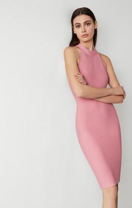 BCBGMAXAZRIA Halter Neck Bodycon Dress